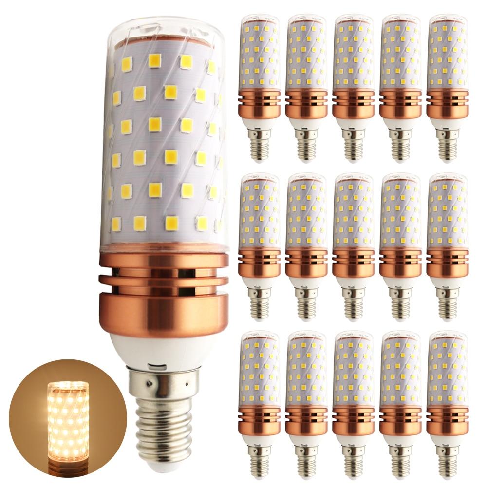 15x E27 110V 220V 2835 SMD LED Bulb E14 Corn Candle Light 12W 16W Lamp Bombillas Cold Warm White
