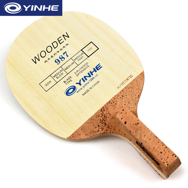 YINHE 987 Korea Style Table Tennis Blade (5 Ply Wood) Japanese Penhold (JS) Handle Racket Ping Pong Bat Paddle galaxy yinhe emery paper racket ep 150 sandpaper table tennis paddle long shakehand st