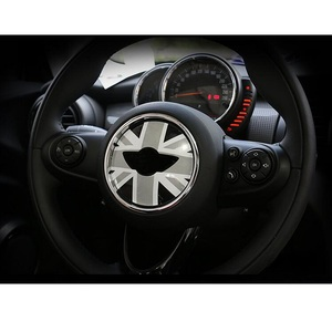 Image 5 - Union Jack Direção Centro Roda Etiqueta Decalques Decoração para BMW MINI Cooper JCW F55 F56 Interior Car Styling Acessórios