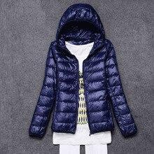 Весенний женский светильник, тонкое пуховое пальто с капюшоном, короткая тонкая куртка на 90% белом утином пуху, верхняя одежда, пальто для женщин размера плюс, пуховик FP0409