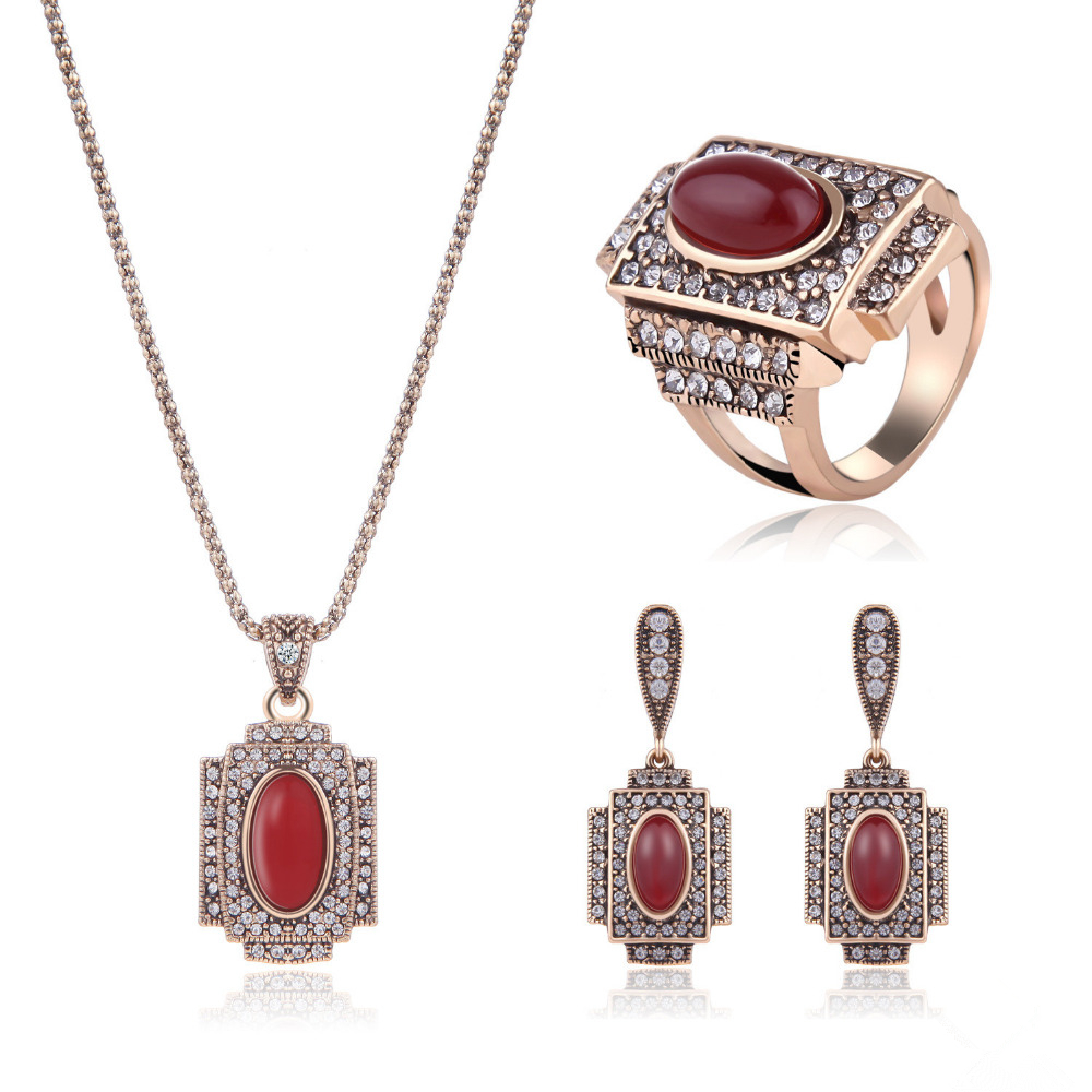 Hesiod Indian Wedding Jewelry Sets Gold Color Full Crystal: Aliexpress.com : Buy Vintage Delicate Crystal Jewelry Sets