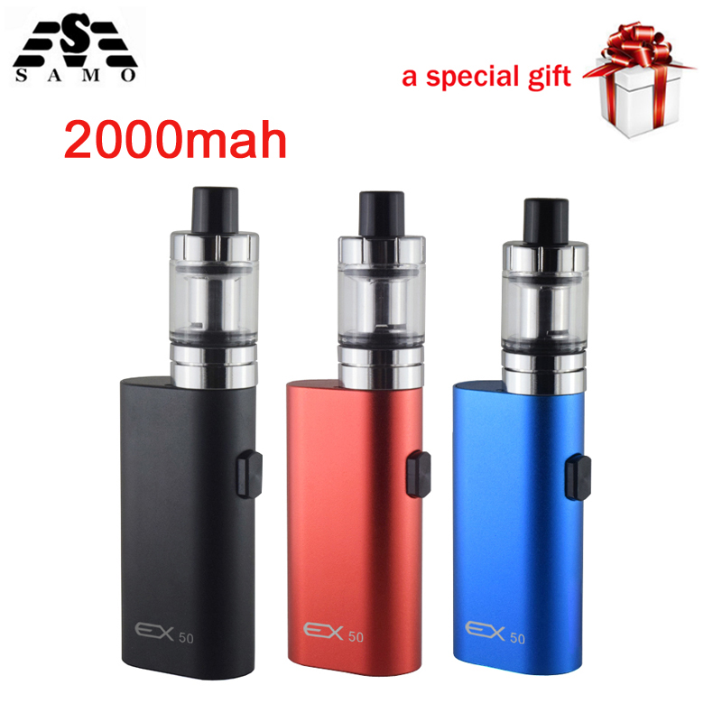 New EX50 Electronic Cigarettes Box Mod kit 2ml Atomizer vapor vaporizer 50w Vape pen 2000mah battery e-cigarette kit