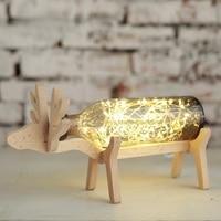 2016 Newest DIY Creative Christmass Gift Deer Night Lamp Babysbreath Table Light For Girlfrend Children Bed