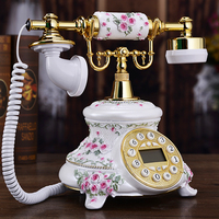 New Rural Antique Telephone New Authentic European Style Retro Home Fixed Telephone Mail Landline Art Gift