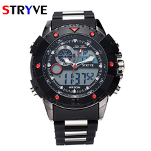 Sport Watch STRYVE Men Watches Top Brand Luxury Famous Electronic LED Digital WristwatchMale Clock Hodinky Relogio Masculino