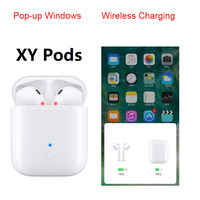 2019 XY Pods PK i13 1:1 Double Touch contorl Wireless charger Tws Bluetooth earbuds earphone headsets pods Earphones