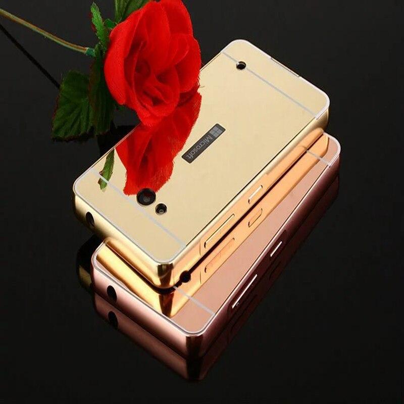 Para microsoft nokia lumia 730 lumia 735 case de aluminio del metal de parachoqu