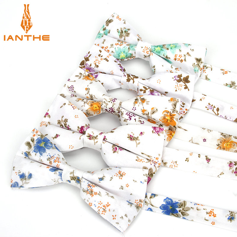 Brand New Men Fashion Floral Print Bow Tie Wedding Suits Bowtie For Man Male Neckwear Fashion Butterfly Gravatas Necktie Gifts