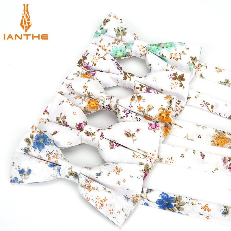 Brand New Men Fashion Floral Print Bow Tie Wedding Suits Bowtie For Man Male Neckwear Fashion Butterfly Gravatas Necktie Gifts