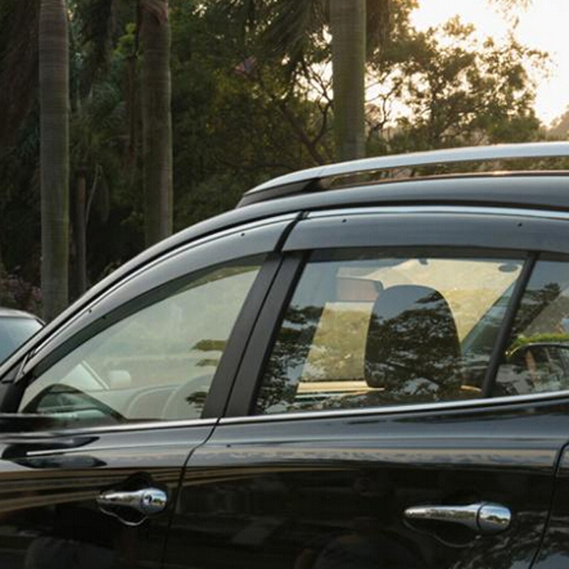 4x For Jeep Compass 2007-2010 Sun Rain Wind Smoke Window Visor Vent Door Visors