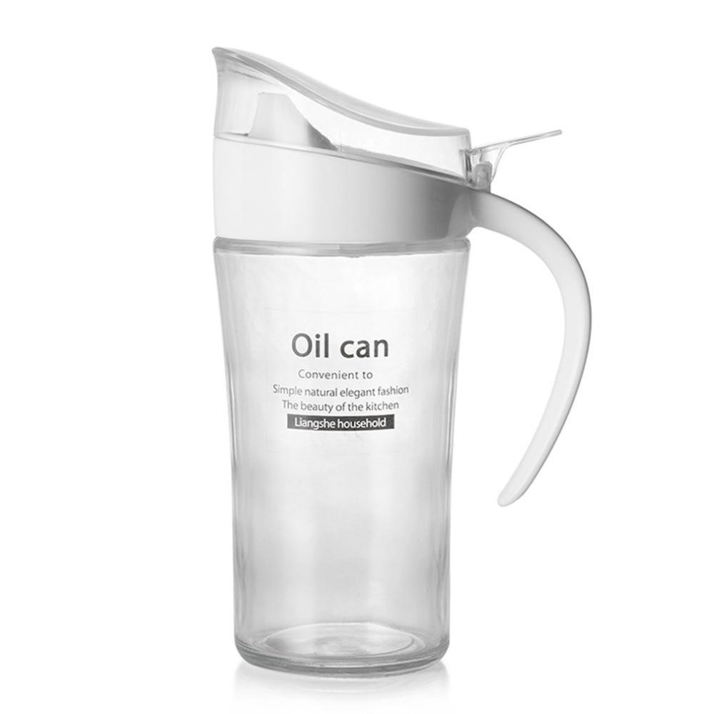 620ml Glass Oil Can Tanker Leak Proof Transparent Oil Seasoning Sauce Bottle Oil Sauce Vinegar Storage Container Kitchen Supply