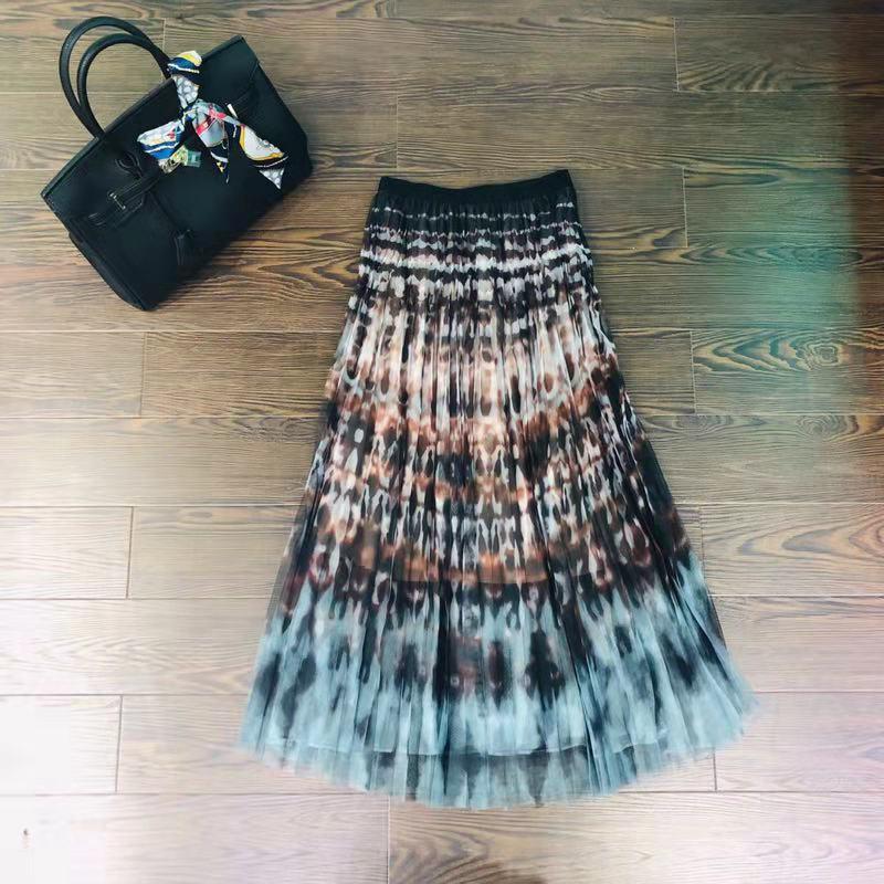 Pista Fiesta Moda Diseño Hfa02378 2019 Las Faldas Mujeres Ropa De La Famoso Lujo Europeo Estilo OOHwa0q
