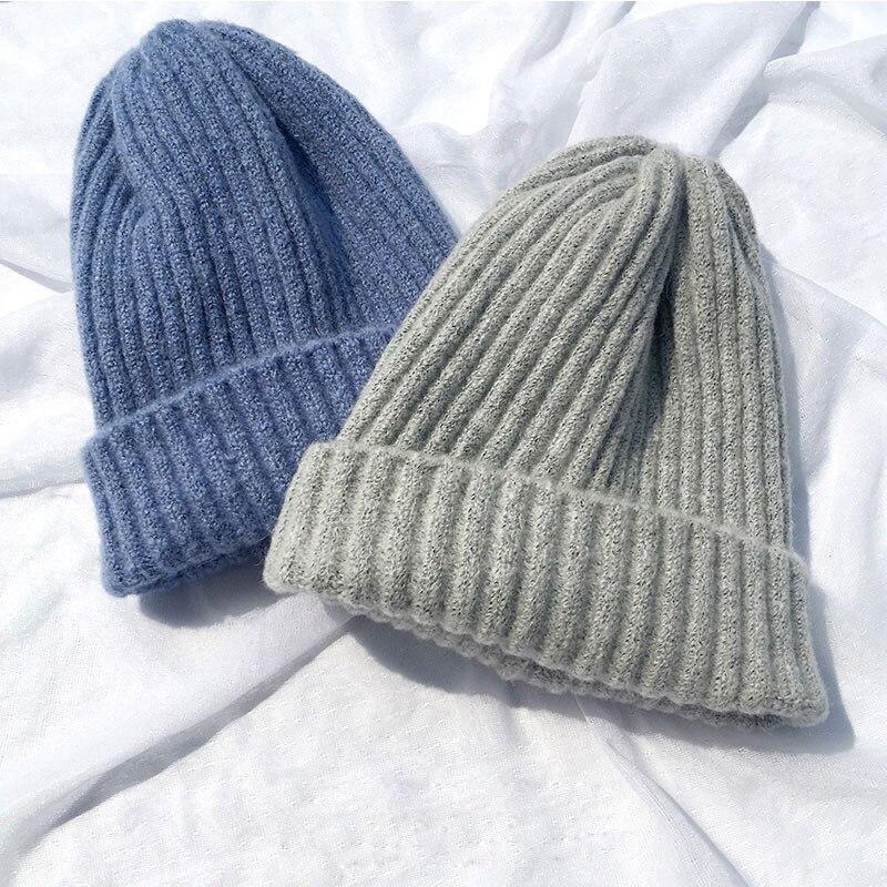beanie women winter hats for women men thick skullies beanies for ladies winter beanie hat solid pink black women winter hat