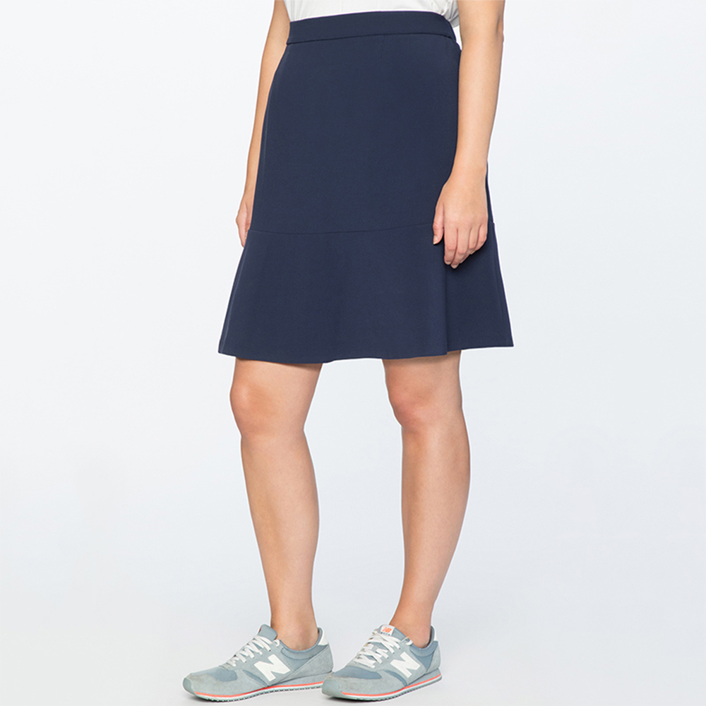 COCOEPPS New 5XL Plus Size Women Skirt Loose Casual Big Size High Waist Fashion School Student Girl Skirt Large Size Blue Skirts