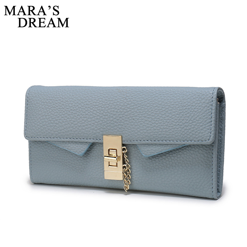Mara's Dream 2018 Women Wallets Female PU Leather Purse High Quality Women Clutches Card Holders Coin Keeper Bolsas Money Bag simple organizer wallet women long design thin purse female coin keeper card holder phone pocket money bag bolsas portefeuille