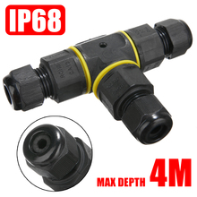 IP68 Waterproof Electrical Cable Connector 3 Way Splitter Outdoor Power Light T Type Sleeve Equipment Supplies
