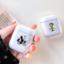LAUGH LIFE Hard Earphone Case For Apple Airpods Cover Cute Cartoon  Transparent Clear Luxury