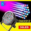 [DBF] Luces DEL Escenario LED 36 RGB LED PAR DMX Iluminación de la Etapa del Efecto DMX512 Master-Slave luces Led Par Plana para el Partido Del Disco de DJ KTV