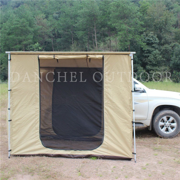 DANCHEL CarTents Awning with cloth house Roof Top Changing Room, size 2x2 2x3 2x2.5 2.5x2.5 with tent danchel 4m 5m 900d oxford bell tent with top waterproof awning