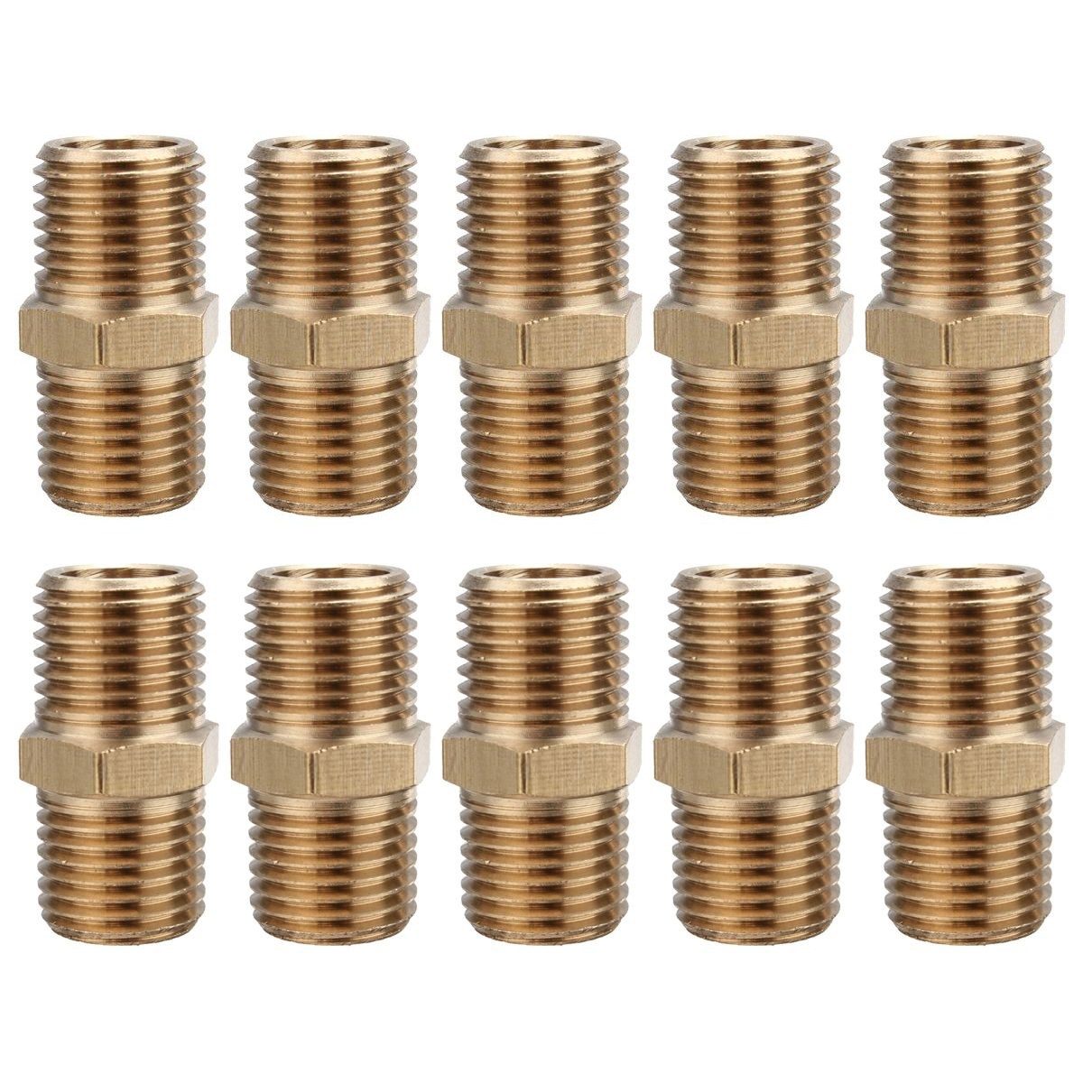 10pcs Gold Air Line Hose Connector  1/4 BSP Male Thread Euro Fitting Quick Release Set with Corrosion Resistance 4 pcs pneumatic air hose fitting 10mm brass straight barb connector adapter