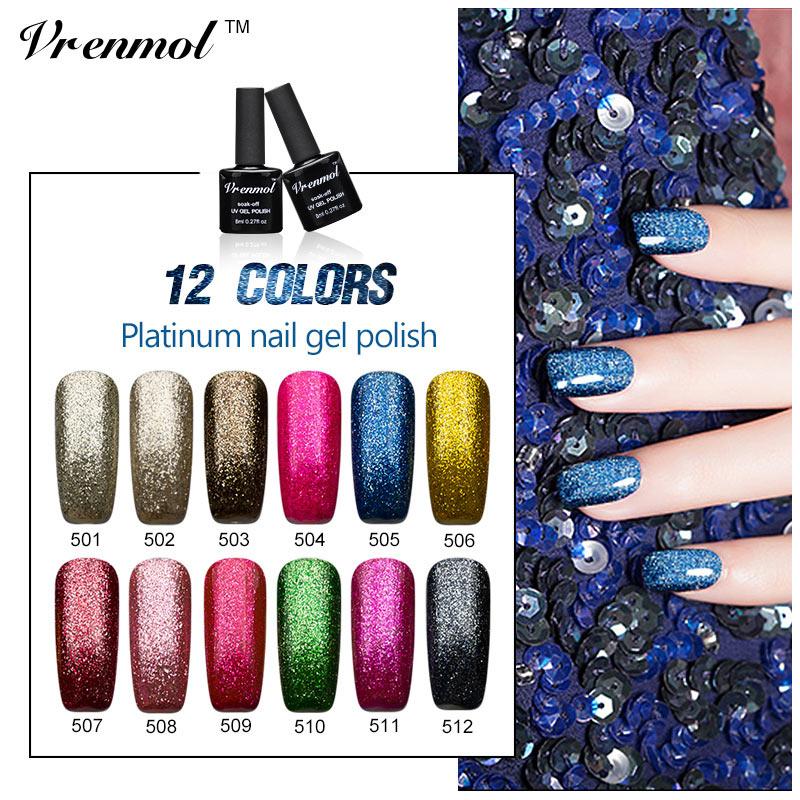 vrenmol 8ml bling glitter nail