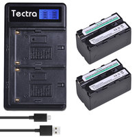 5200mAh 2PCS NP F770 NP F750 NP F770 np f750 NPF770 Batteries+LCD USB Dual Charger for Sony NP F550 NP F770 NP F750 F960 F970