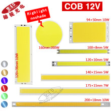 1pcs 12v COB led chip highlight matrix luzes bar Uniform light color for DIY light white warm white DC 12-14v 2w-200w led(China)
