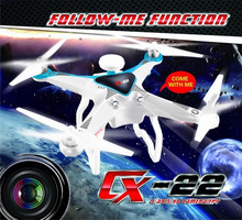 Cheerson CX-22 4CH 6 Axis UAV 5.8G FPV GPS Professional RC Drone Quadcopter 5MP Camera Helicopter