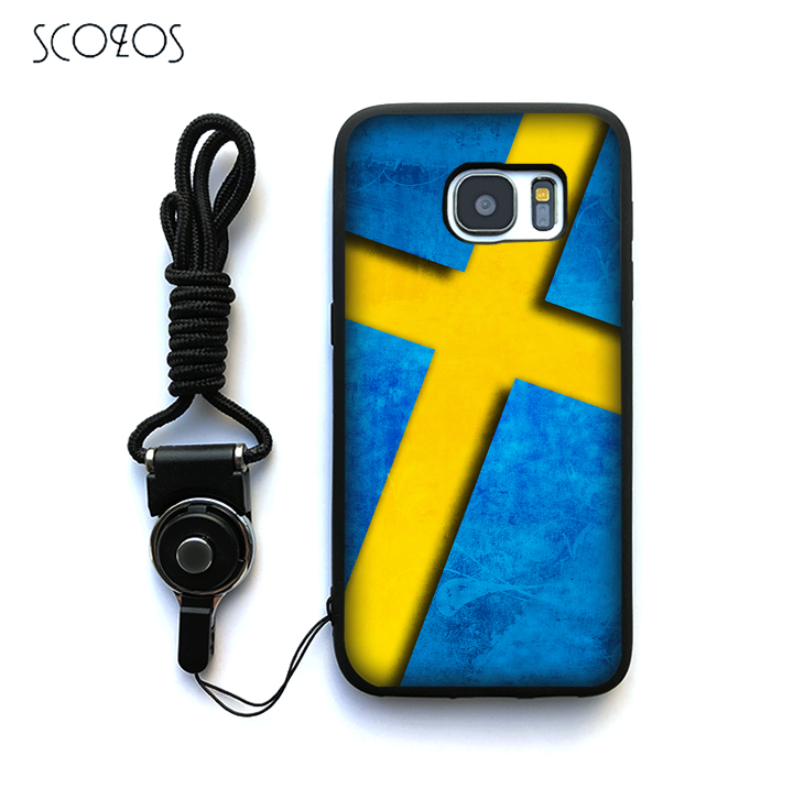 SCOZOS sweden flag Silicone Phone Case Cover For Samsung Galaxy S6 S7 S7 edge S8 S8 Plus J3 J5 J7 A3 A5 A7 2016 Note 8 &qq167