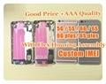 Imei personalizado réplica fundas para iphone 5 5s 6 chassis completo s 6g 6 s Plus assembléia habitação Voltar habitação tampa porta da bateria caso