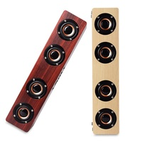 Home Theatre HiFi Wooden Soundbar Wireless Bluetooth Speakers With Subwoofer Portable Smart Speaker For TV Wood
