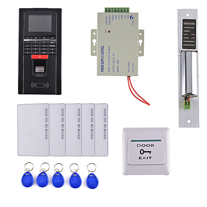 125KHz RFID Fingerprint Keypad ID Card Reader Access Control System Kit + Electric Bolt Lock + Door Switch водяной полотенцесушитель ника лд 60 40