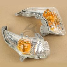 цена на Motorcycle Clear Front Turn Signals Indicator Light Blinker Lens For Suzuki GSR 400 600 2006-2012