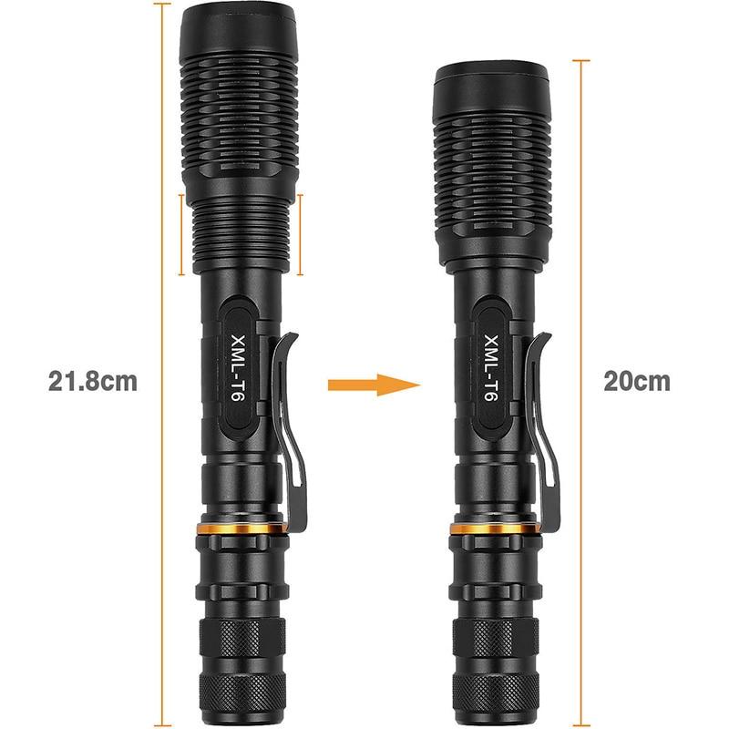XML-T6 LED Zoomables lampe de Poche 12000 Lumen 18650 Chargeur de Batterie En Plein Air Électrique Torche Haut/Moyen/Bas/Strobe/SOS 5 Modes-M25