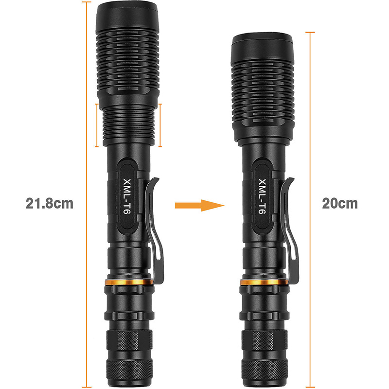 XML-T6 LED Zoomable Flashlight 12000 Lumen 18650 Battery Charger Outdoor Electric Torch High/Middle/Low/Strobe/SOS 5 Modes--M25