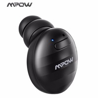 Mpow Single Mini Bluetooth V4 1 EDR Earphone Invisible Wireless Earphones With Microphone Carrying Case For
