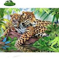 Diamond Embroidery Leopard 3d Diy Diamond Painting Kits Square Drill Rhinestones Almaznaya Embroidered Mosaic Needlework Animals