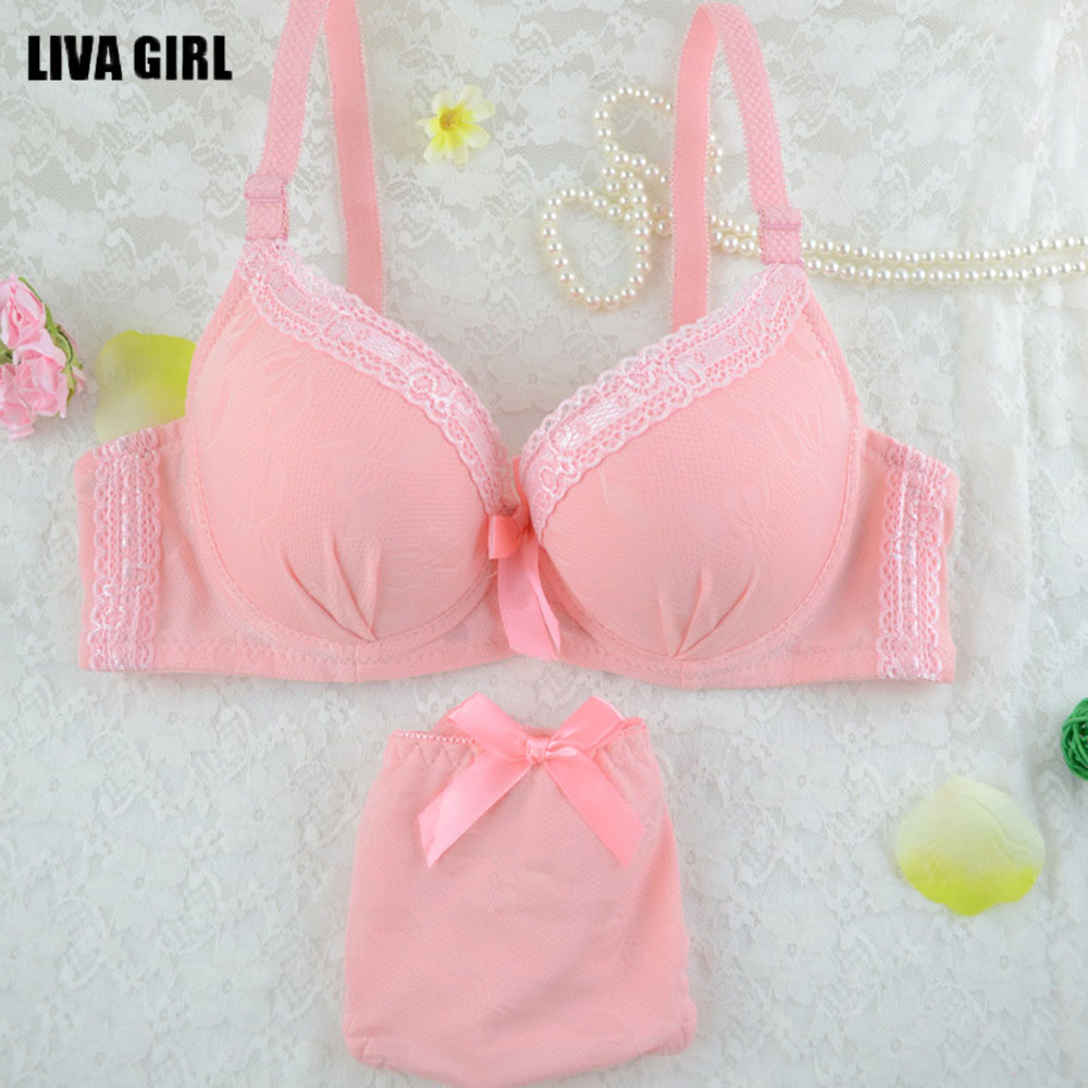 Women's Girl Push Up Lovely Sexy Lace Suit   Bra     Sets   Lingerie   set   Solid Underwear   Briefs     Sets   4 color underwear women