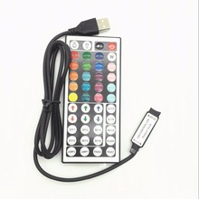 1-10PCS/Lot 44 Keys LED IR RGB Mini USB Controler For SMD 3528 5050 Strip Lights Controller Remote Dimmer Input
