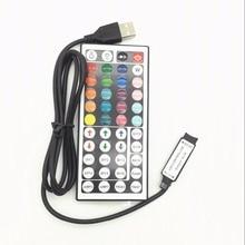 1-10PCS/Lot 44 Keys LED IR RGB Mini USB Controler For SMD 3528 5050 LED Strip LED Lights Controller IR Remote Dimmer Input dc 12v mini 24key remote controller ir rgb rgbw controller with mini dimmer for smd 3528 5050 5630 3014 led strip lights