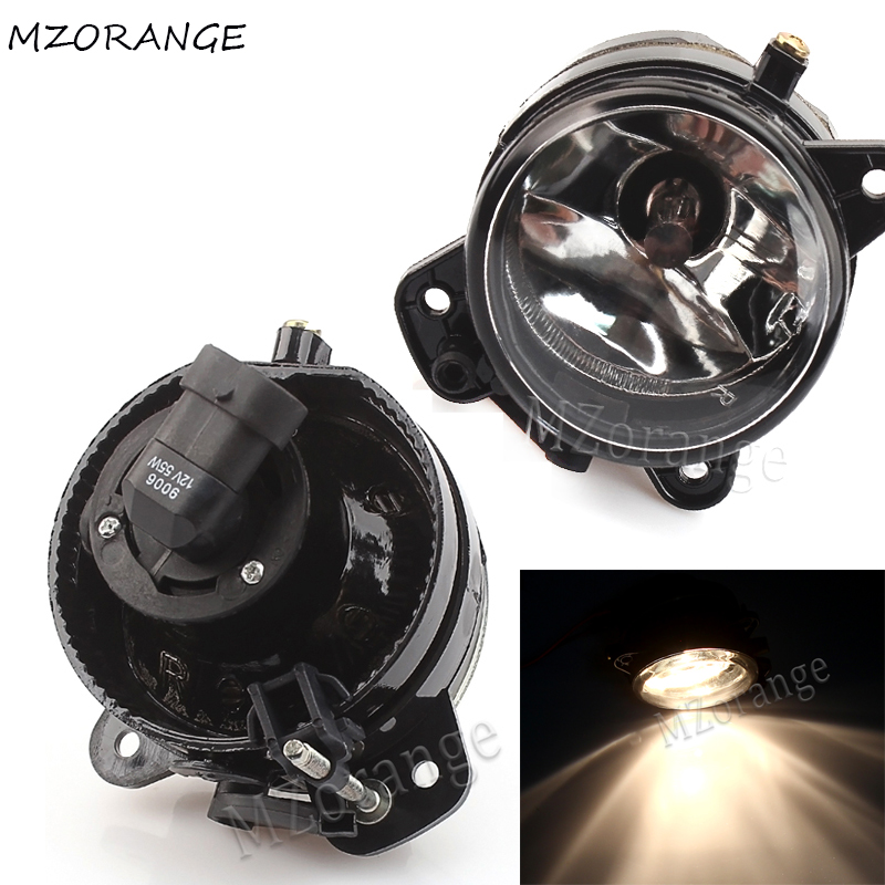 MZORANGE For VW Polo 9N 2005 2006 2007 2008 2009 Car Front Bumper Fog Light Halogen Fog Lamps Clear Lens 9006 Bulbs Left Right in Car Light Assembly from Automobiles Motorcycles