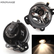 купить MZORANGE  For VW Polo 9N 2005 2006 2007 2008 2009 Car Front Bumper Fog Light Halogen Fog Lamps Clear Lens 9006 Bulbs Left/Right дешево