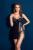 Cuidado Tira de Clarete negro Traje de Lencería Sexy Sexy Pijamas Transparentes de Encaje Floral Gasa Resbalones Completos Para Las Mujeres 2016