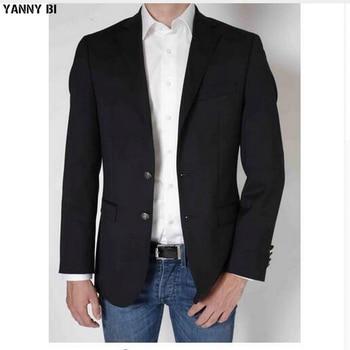 Мужская куртка с двумя пуговицами на заказ, синий свадебный пиджак, одежда для вечеринок, спортивный пиджак, пиджак