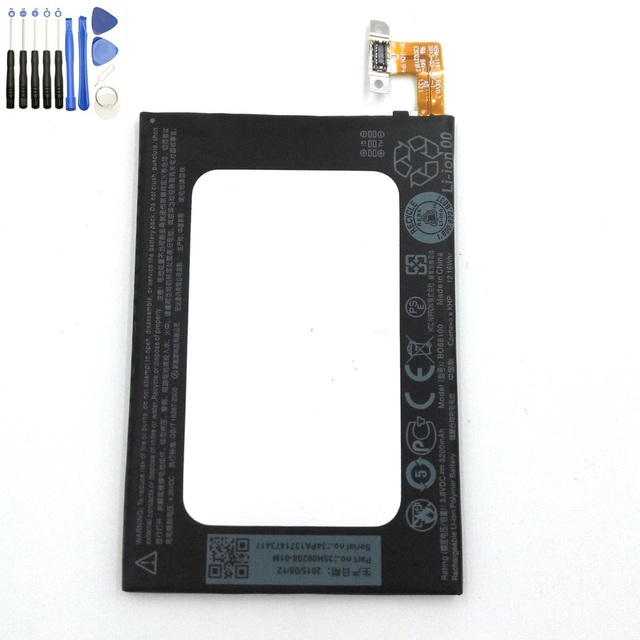 Original 3200 mAh bateria de polímero para borboleta HTC S 9088 901E 9060 919D bateria do telefone BO68100