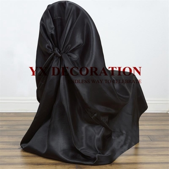 Hot Sale Satin Universal Self Tie Chair Cover Banquet Wedding Chair Covers Event Festival Decoration