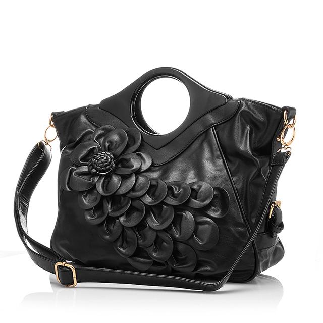 2017 Brand New Women Embossed Bag with Flowers, Wedding Tote Bag Red Leather Shoulder Handbag Flower Bride messenger Bags