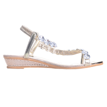 HEE GRAND Brand Woman Sandals Flat with Flip Flop Rhinestone Summer Style Shoes Woman Drop Shipping XWZ095