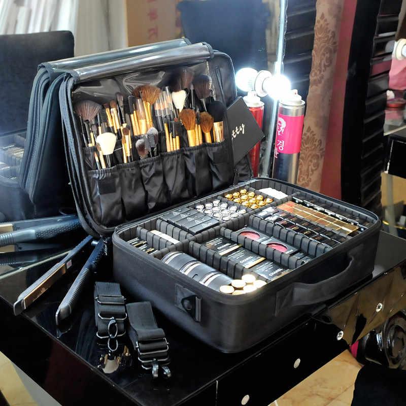 Moda feminina Saco Cosmético Sacos Caixa de Cosméticos Bolsa de Viagem Organizador de Maquiagem Make Up Profissional Caso de Beleza Para Maquiador
