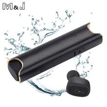M & J беспроводные наушники Bluetooth наушники мини TWS наушники IPX7 водонепроницаемые настоящие Беспроводные с power Bank